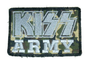 """KISS - Army Camo 4x3"""" Embroidered Patch"""