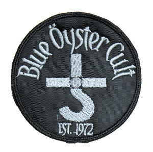 """Blue Oyster Cult Grey 3"""" Embroidered Patch"""
