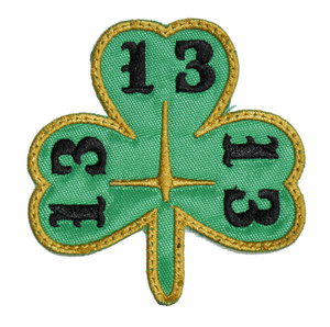 """Lucky 13 Clover 3x3"""" Embroidered Patch"""