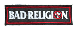 """Bad Religion 5x1.5"""" Embroidered Patch"""