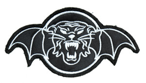 "Tiger Army - White Logo 5x3"" Embroidered Patch"