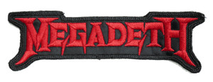 """Megadeth - Red Logo 5.5x2"""" Embroidered Patch"""