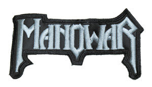 "Manowar - Grey Logo 5x3"" Embroidered Patch"