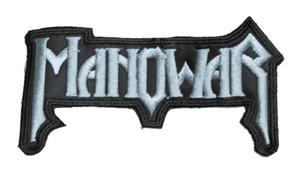 "Manowar - Grey Logo 5x3"" Embroidered Patch"