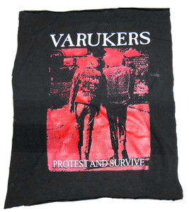Varukers - Protest and Survive Test Backpatch