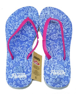 Light Blue Tropical Style Flip-Flops