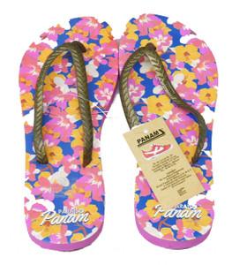 Pink Flower Print Sandal Flip-Flops