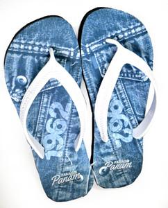 Blue Jean Print 1962 Sandal Flip-Flops