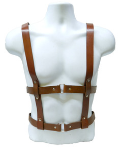 Brown Leather Men's Harness
