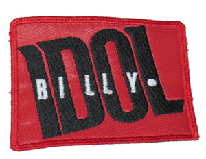 "Billy Idol Logo 3.5x3"" Embroidered Patch"