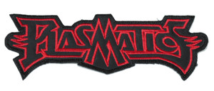"""Plasmatics Red Logo 6x1.5"""" Embroidered Patch"""