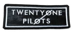 "Twenty One Pilots - Black Logo 4.5x2"" Embroidered Patch"