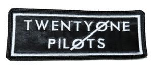 "Twenty One Pilots - Black Logo 4.5x2"" Embroidered Patch"