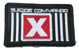 """Suicide Commando 'X' Logo 4x2.5"""" Embroidered Patch"""