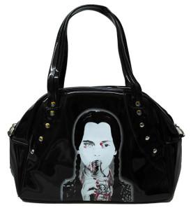 Merlina Addams Black  Handbag