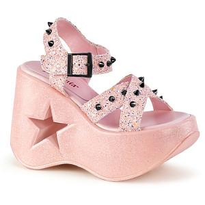 Women's Star Cutout Platform Sandals by Demonia