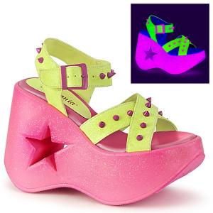 Neon Women's Star Cutout Platform Sandals by Demonia