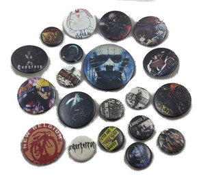 20 Piece Pin Lot - Hellraiser, Gungrave, Naruto  + More!