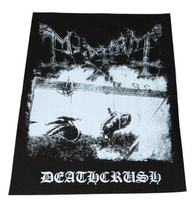 Mayhem Deathcrush - Test Backpatch White