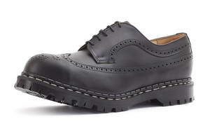 Gripfast 5 Eyelet American Brogue Black  Shoe Made in England