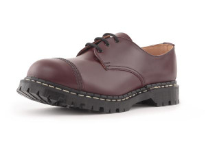 Gripfast 3 Eyelet Classic Shoe in Oxblood Made in England