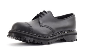 Gripfast 3 Eyelet Classic Shoe in Black Made in England