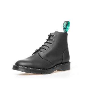 Solovair - 6 Eye Derby Boot in Greasy Black *Made in England*