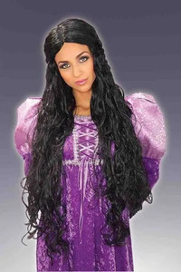 Lady Guinevere Black Wig