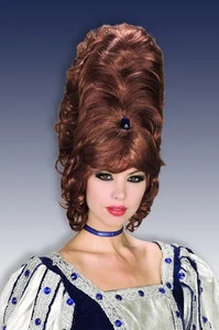 Women's Brown Beehive Wig