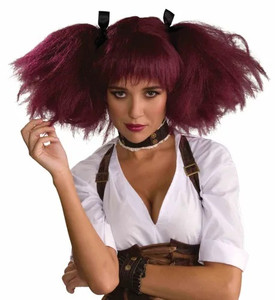 Steampunk Burgundy Wig