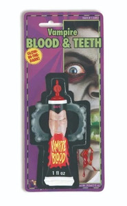 Vampire Fangs and Fake Red Blood Kit