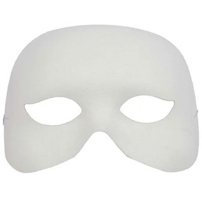 White Cocktail Mask