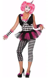 Wome's Pink Clown Costume