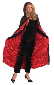 Red Lined Coffin Cape