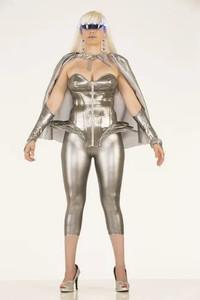 Futuristic Silver Corset