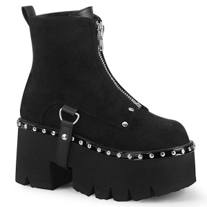 Cut Out Platform Ankle Boot by Demonia