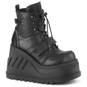 Wedge Platform Ankle Boot w/ Hook & Loop Strap by Demonia