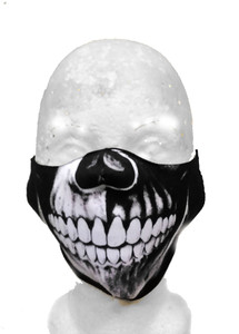 Black & White Skull Face Mask