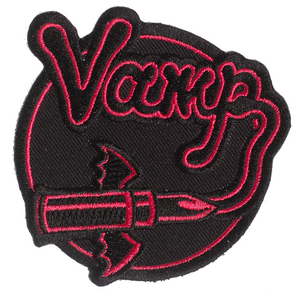 """Vamp Lipstick 3.5"""" x 3.75"""" Embroidered Patch"""