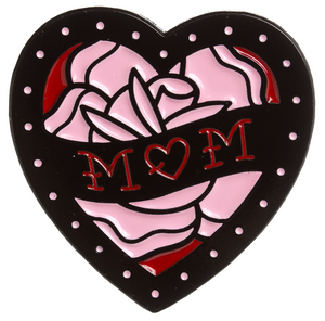 Mom Heart Tattoo Metal Pin