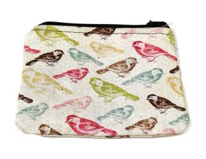 Multicolor Bird Print Coin purse