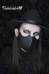 Waxed Black Bat Shaped Face Mask