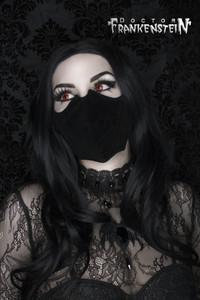 Velvet Black Bat Shaped Face Mask