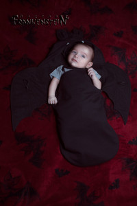 Black Bat Wings Baby Sleeping Bag