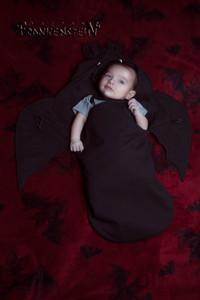 Black Bat Wings Baby Sleeping Bag