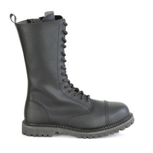 14 Eyelet Steel Toe Lace-Up Vegan Combat Boots