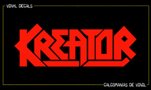"Kreator - Logo 5x1 3/4"" Vinyl Cut Sticker"