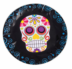 Day of the Dead Skull Party Plates