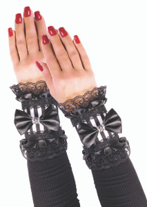 House of Bones Pinstriped Wrist Cuffs