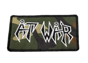 "At War Camo Logo 4.5x2"" Embroidered Patch"